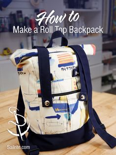 We'll show you how to create a high-end, designer-style backpack with a unique roll-top closure instead of a standard zipper closure. This fashionable backpack is made with high-quality upholstery and décor fabric from Sailrite®. Bag Patterns To Sew, Sewing Patterns, Skirt Patterns, Snapchat, Top Backpacks, Make Your Own Clothes, Sewing Tutorials, Bag Tutorials, Sewing Hacks