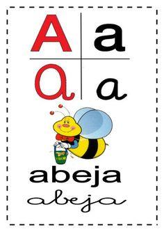 Abecedario Con Imagen A Pag Completa | Abc, Education Abc Alphabet Song, Alphabet Activities, Alphabet Posters, Printable Alphabet, Abc For Kids, Alphabet For Kids, Learning Apps, Early Learning, Abc Nursery Rhymes