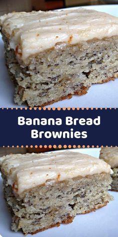 Ripe Banana Recipe, Baked Banana, Banana Bread Recipes, Brownie Recipes, Recipes With Bananas, Banana Dessert Recipes, Sour Cream Banana Bread, Banana Bread Brownies, Banana Bars