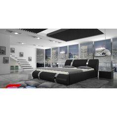 Stylefy Elbrus Polsterbett Grau - Home Decor Living Room Modern Bedroom Furniture Sets, Bedroom Sets, Dream Bedroom, Big Bedrooms, Living Room Decor, Living Spaces, Bedroom Decor, Bed Design, House Design