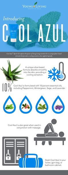 Cool Azul now available as a gel or an essential oil. Learn more from www.theoildropper.com