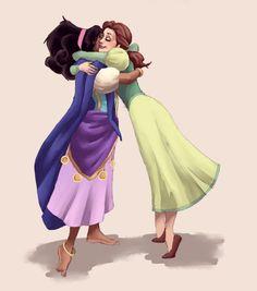 Esmeralda/Belle -- BFFs