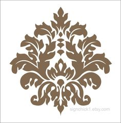 Damask Vinyl Wall Decal set of 20 by signchick1 on Etsy, $45.00