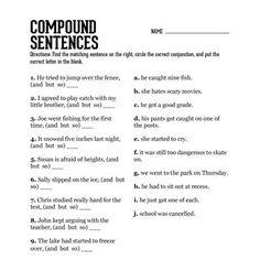 simple sentences for practice