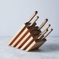 Diy Knife, Wood Knife, Knife Display Case, Magnetic Knife Blocks, Block Plan, Knife Storage, Knife Stand, Knife Holder, Knife Block Set