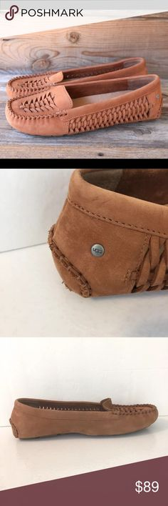 UGG Chestnut leather loafers Sz 10 Like new Ugg loafers UGG Shoes Flats & Loafers