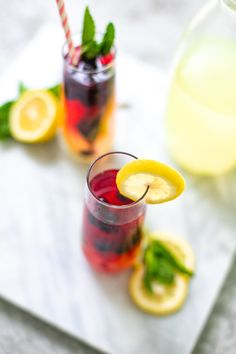 Minty Blueberry Lemonade Summer Mocktail Spritzer and other Refreshingly Easy Summer Mocktail Recipes