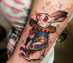 The White Rabbit tattoo by Felipe Rodrigues