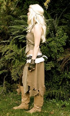 If she did it, I can do it!  Gonna recreate Daenerys' Doth Raki costume for the GoT party :)