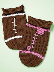 Crochet Baby Cocoons - Crocheted Football Papoose