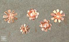 Copper Garden Art Flowers DIY