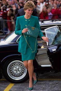 Princess Diana in Catherine Walker - Royal Marsden Hospital - February 1993