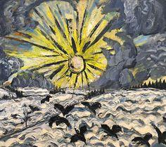 Sonnenaufgang / Sunrise ( Dawn ), 1913, Otto Dix. Germany Expression Painter (1891 - 1969)   (Source:  Badische Zeitung  )
