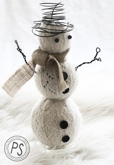 DIY Snowman - 25 Handmade Christmas Ideas over at the36thavenue.com