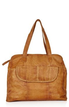 Love this rustic leather tote. @Nordstrom