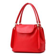 ace34b2684a5 2016 Fashion women leather bucket bag black handbag brand high quality  Casual crossbody bucket bags Shoulder