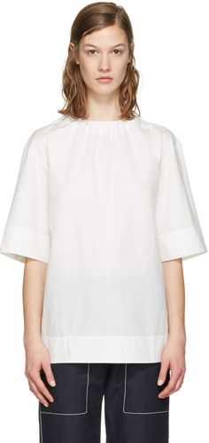 MARNI White Poplin Blouse. #marni #cloth #blouse