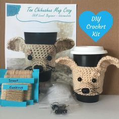DIY Kit Crochet - Amigurumi Kit - Crochet Kit  - DIY Craft Project - DIY Kits - Crochet Dog Pattern - Gift for Crocheter - Crochet Gift