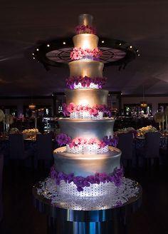 Stunning Purple Wedding Cake.