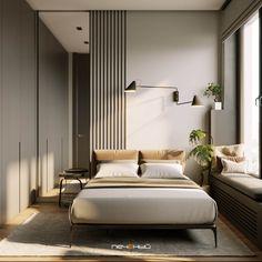 Modern Luxury Bedroom, Master Bedroom Interior, Modern Master Bedroom, Room Design Bedroom, Modern Bedroom Design, Contemporary Bedroom, Luxurious Bedrooms, Home Decor Bedroom, Interior Design Living Room