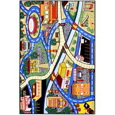 The Children's City Streets Design non-skid, rubber-backed area rug features children's education and novelty designs that are sure to uplift any space. This inviting area rug offers a durable construction for years of use, and a bright color palette. Solar System Design, 4x6 Rugs, Rugs Usa, School Shopping, Contemporary Rugs, City Streets, Kid Spaces, Baby Design, Online Home Decor Stores