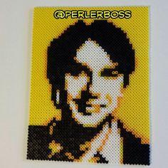 Raj Big Bang Theory perler fuse bead portrait by perlerboss