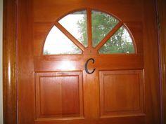 "Accountant By Day: Cricut + Vinyl = A vinyl ""C"" on my door, cut with my Cricut and some vinyl"