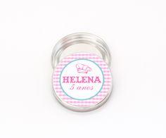 Adesivos personalizados redondos de 5 cm para imprimir e colar em latinhas Mint-To-Be no tema Mini Chef ou Confeitaria.