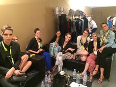 Models wait backstage for the fashion show to start #Gyunel #Couture #Fashion #Style #Models #Backstage #Beauty #CannesFilmFestival #DeGrisogono