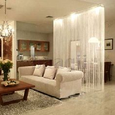 White Fringe Door Window Panel Room Divider String Curtain Strip Tassel HG417