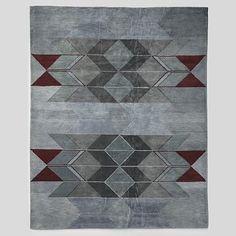 Alyson Fox Chevron Wool Rug #WestElm- Living room rug 9x12
