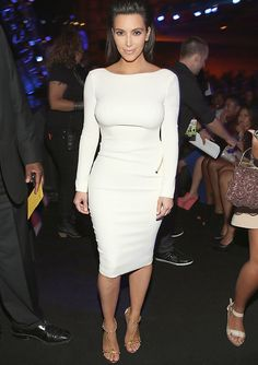 Television personality Kim Kardashian attends the 2012 BET Awards at The Shrine Auditorium on July 1, 2012 in Los Angeles, California.