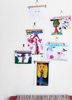 Su galería de arte personal solo necesita perchas en las que colgar la imaginación.