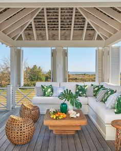 """Breezy Outdoor Retreat - Tour This Breezy South Carolina Beach House - Southernliving. The homeowners, he explained, """"wanted a house that was understated, so it would speak to the spirit of Sullivan's Island, but at the same time they have very sophistica House Exterior, House Design, Coastal Homes, Beach House Interior, Cottage Style, Coastal Living, Outdoor Living, Beach Decor, South Carolina Beach Houses"""