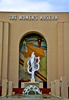 "Fair Park Art Deco sculpture for the Women's Museum, Fair Park, Dallas, Texas. ""Spirit of the Centennial"" Fair Park Dallas, Texas Vacation Spots, Women's Museum, Mexican American War, Lone Star State, Park Art, Texas History, Art Deco Design, Geometric Shapes"
