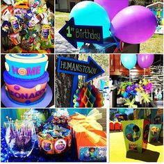Boov Party Oh Pig Cat Home The Movie DreamWorks Purple And Blue First Birthday Theme WELCOME FELLOW BOOV