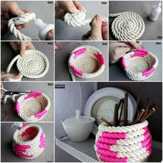 DIY Coiled Rope Basket Tutorial