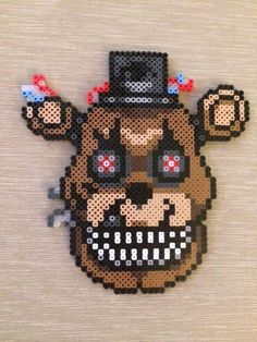 Nightmare Freddy Perler Bead Sprite by PrettyPixelations on Etsy
