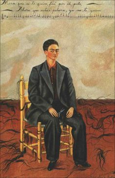 By Frida Kahlo Self-Portrait with Cropped Hair, oil on canvas. Kahlo painted Self-Portrait with Cropped Hair shortly after she divorced her unfaithful husband, the artist Diego Rivera. Frida E Diego, Diego Rivera Frida Kahlo, Frida Art, Frida Kahlo Artwork, Arte Latina, Mexican Artists, Museum Of Modern Art, Les Oeuvres, Art History