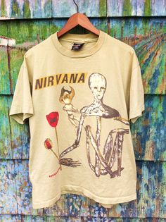 Rare Vintage 90's Original Nirvana Incesticide Tour Shirt Made in the USA XL Grunge Punk Cobain Mudhoney Tad Hole In Utero Nevermind Pixies