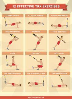 12 Effective #TRX Exercises http://dld.bz/d6etj