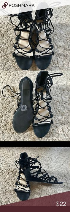 Forever 21 Black Strappy Gladiator Sandals Very comfortable. Cute and stylish. Forever 21 Shoes Sandals