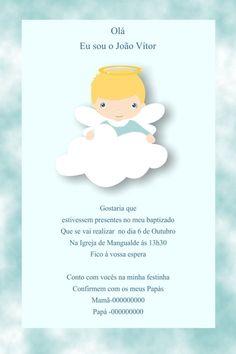 Convite digital personalizado Batizado 022