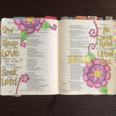 Bible journaling in Hosea. beautiful tangle like flowers Scripture Lettering, Scripture Art, Bible Art, Bible Verses, Bible Crafts, Bible Drawing, Bible Doodling, Bible Study Journal, Art Journaling