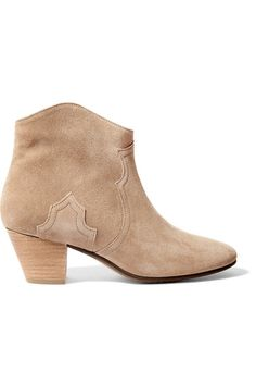 ISABEL MARANT Étoile Dicker suede ankle boots. #isabelmarant #shoes #boots