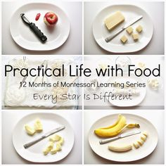 Practical Life with Food - ideas for getting kids involved in the kitchen with simple activities you can do in the classroom.