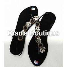 Sandals suede zwart silver