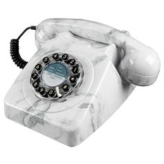 Wild and Wolf 746 Marble Push Button Telephone Retro Phone Telephone Retro, Retro Phone, General Post Office, Home Phone, Red Candy, Marble Pattern, Fibre, Home Living, Living Room