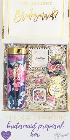 Premade bridesmaid proposal box your girls will LOVE! ❤ #bridesmaidsgift