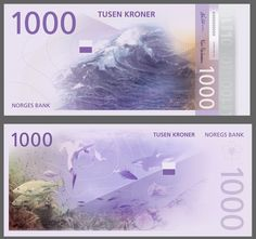 Norway's Central Bank Unveils New Banknote Designs Featuring Pixelated Graphics